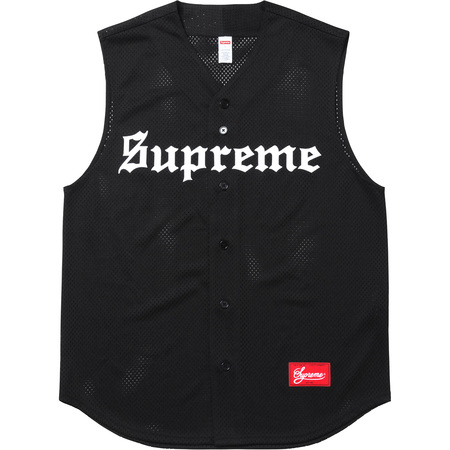 Sleeveless Baseball Jersey (Black)