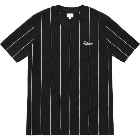 Pinstripe Soccer Top (Black)