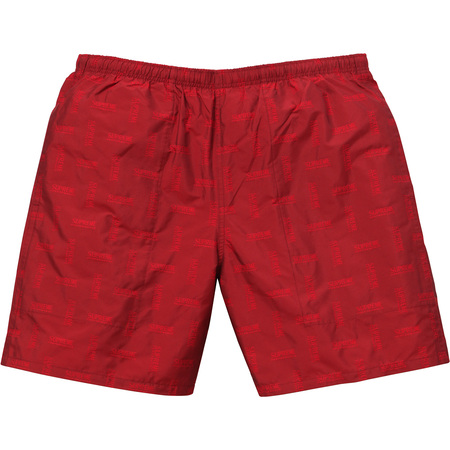 Jacquard Water Short (Dark Red)