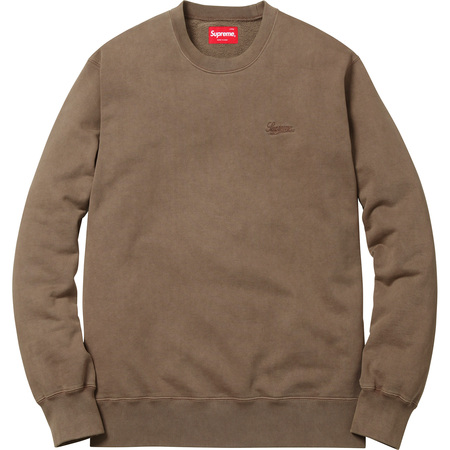 Embroidered Overdyed Crewneck (Brown)