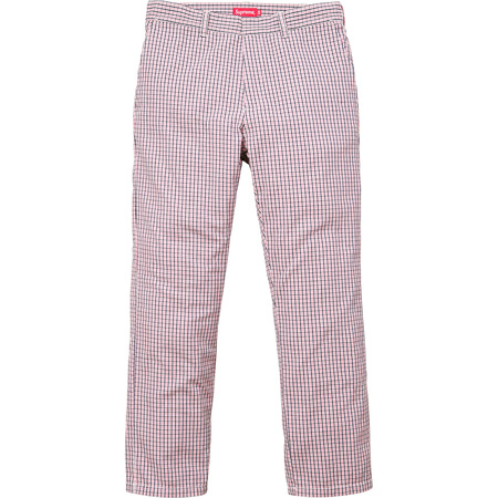 Mini Check Work Pant (Pink)