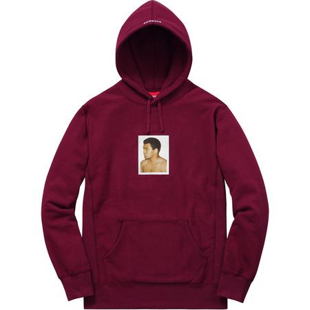 Ali/Warhol Hooded Sweatshirt (Burgundy)