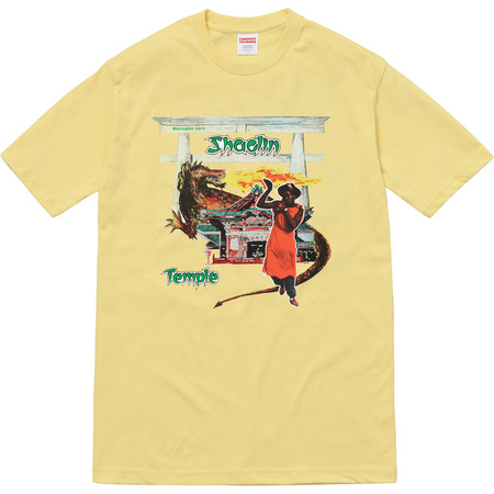 Supreme®/Barrington Levy & Jah Life Shaolin Temple Tee (Light Yellow)