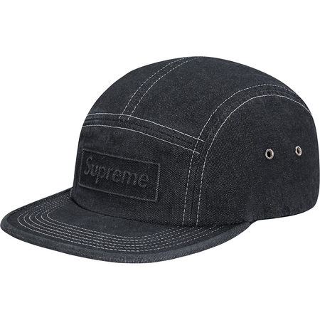 Embossed Stone Washed Camp Cap (Black)