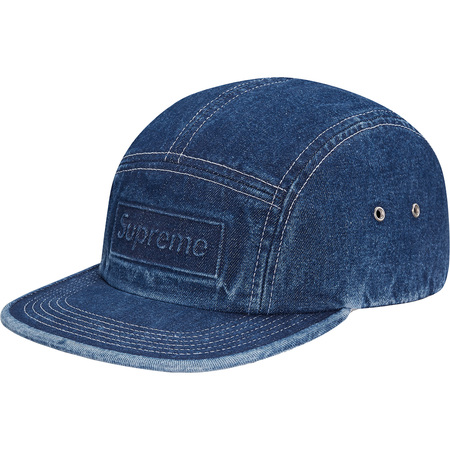 Embossed Stone Washed Camp Cap (Blue)