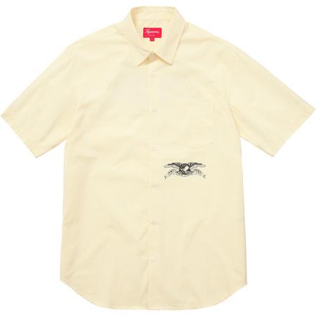 Supreme®/ANTIHERO® S/S Shirt (Pale Yellow)