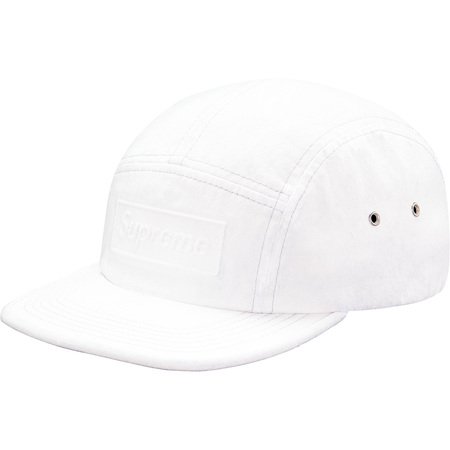 Embossed Stone Washed Camp Cap (White)