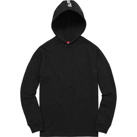Hooded Stripe L/S Top (Black)