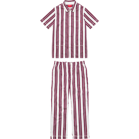 Striped Pajama Set (Burgundy)