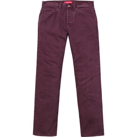 Washed Regular Jeans (Burgundy)