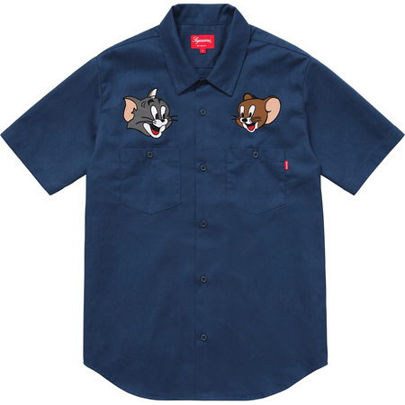 Supreme®/Tom & Jerry© S/S Work Shirt (Navy)