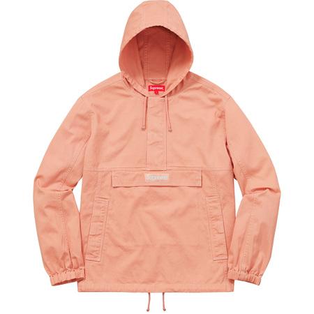 Contrast Stitch Twill Pullover (Peach)