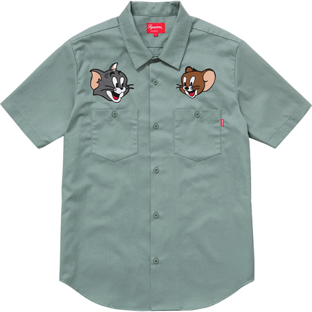Supreme®/Tom & Jerry© S/S Work Shirt (Pale Green)