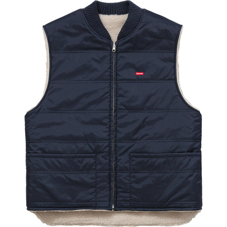 Sherpa Fleece Reversible Work Vest (Navy)