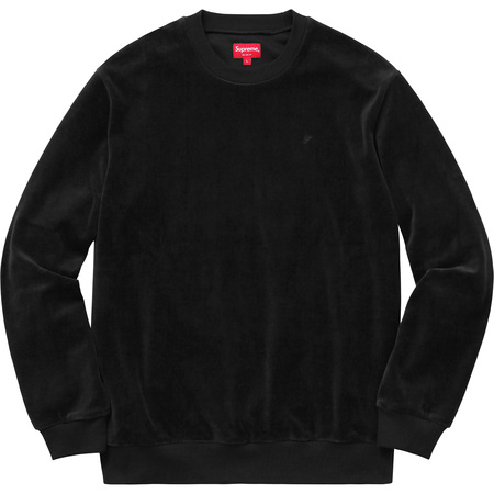 Velour Crewneck (Black)
