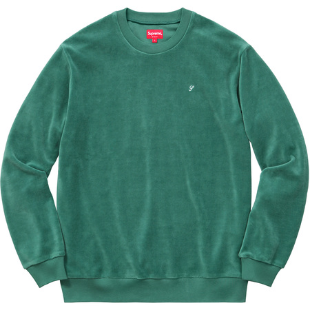 Velour Crewneck (Green)