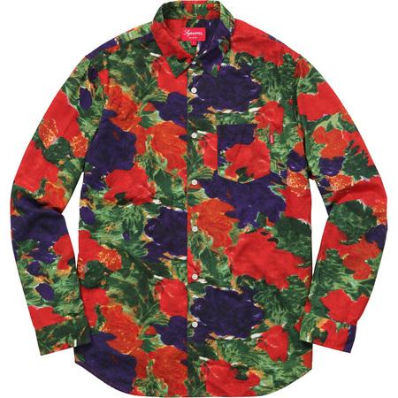 Brushed Floral Shirt (Red)