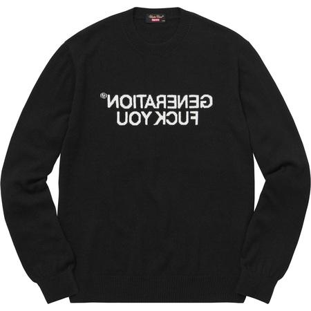 Supreme®/UNDERCOVER Generation Fuck You Sweater (Black)