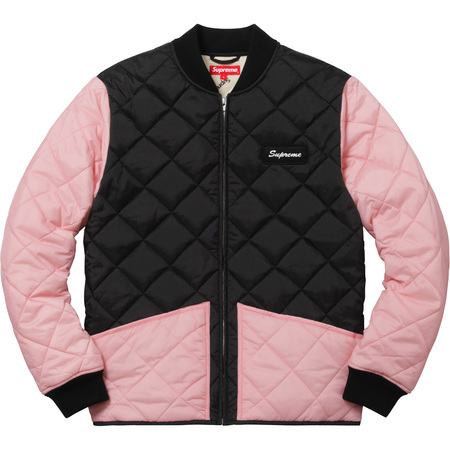 Color Blocked Quilted Jacket (Pink)