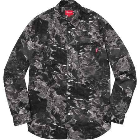 Brushed Floral Shirt (Black)