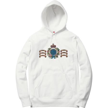 Crest Hooded Sweatshirt (White)