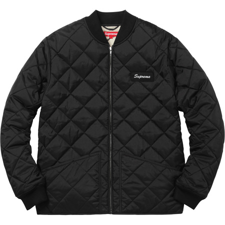 Color Blocked Quilted Jacket (Black)