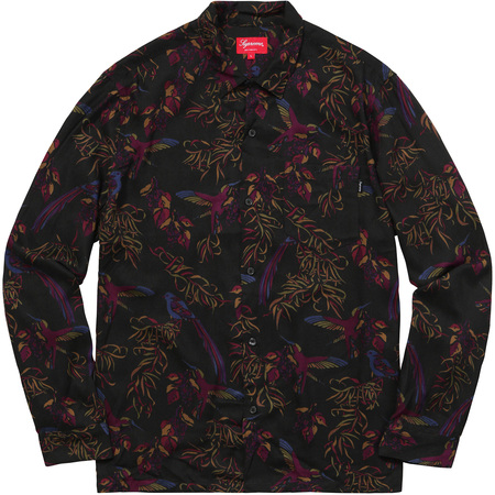 Birds Of Paradise Rayon Shirt (Black)