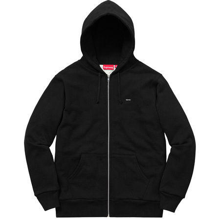 Small Box Thermal Zip Up Sweat (Black)