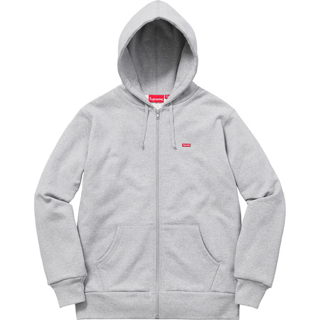 Small Box Thermal Zip Up Sweat (Heather Grey)