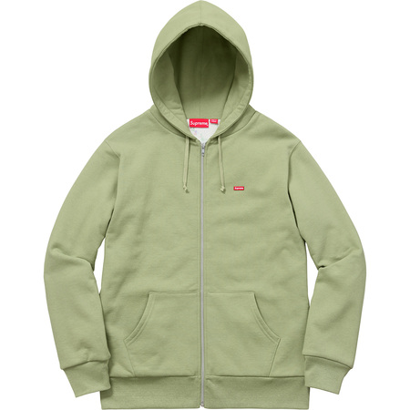 Small Box Thermal Zip Up Sweat (Sage)