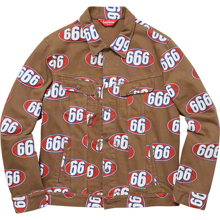 666 Denim Trucker Jacket (Brown)