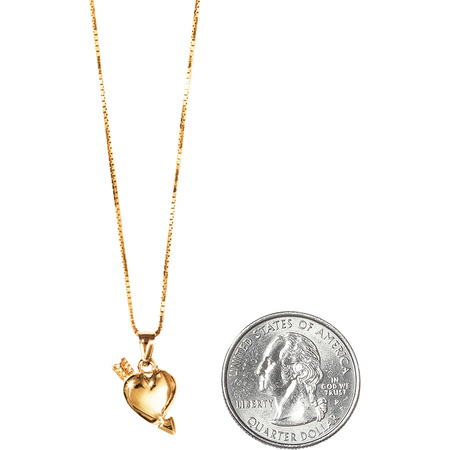 Gold Heart and Arrow Pendant (Gold)
