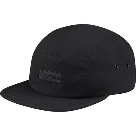Rubber Logo Camp Cap (Black)