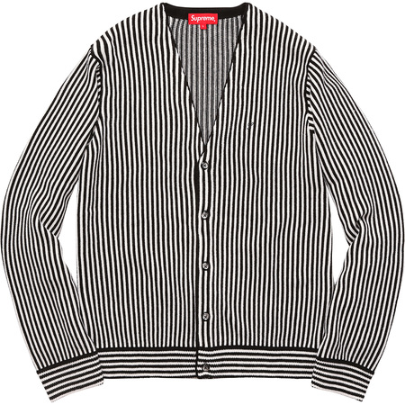 Micro Stripe Cardigan (Black)