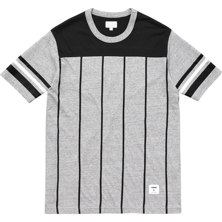 Pinstripe S/S Football Top (Heather Grey)
