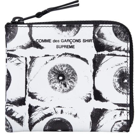 Supreme®/Comme des Garçons SHIRT® Eyes Wallet (White)