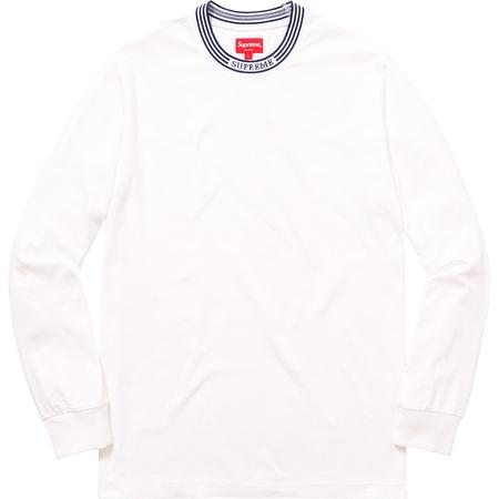 Rib Logo Stripe L/S Tee (White)