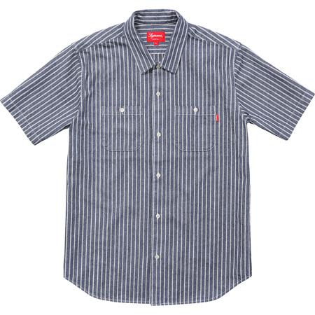 Stripe Denim S/S Shirt (Blue)