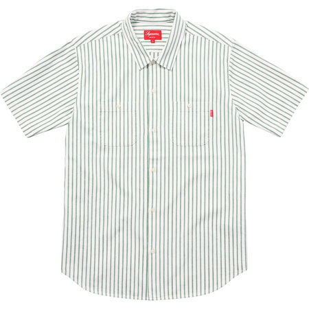 Stripe Denim S/S Shirt (Green)