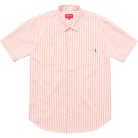 Stripe Denim S/S Shirt (Orange)
