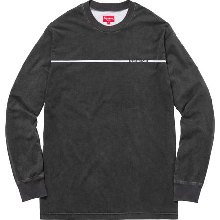 Chest Stripe L/S Top (Black)