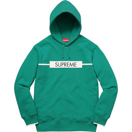 Chest Twill Tape Hooded Sweatshirt (Aqua)
