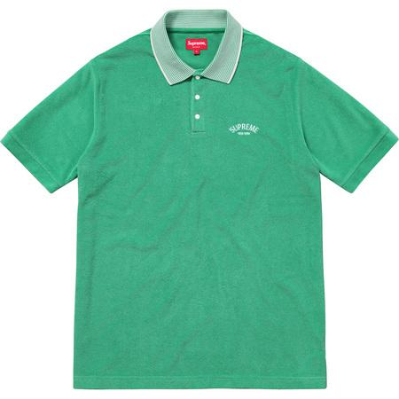 Striped Collar Terry Polo (Green)