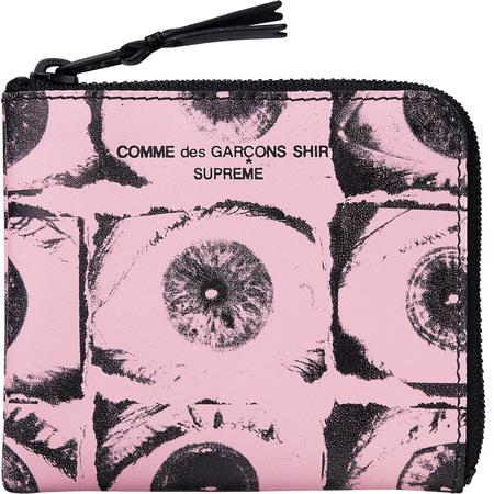 Supreme®/Comme des Garçons SHIRT® Eyes Wallet (Pink)