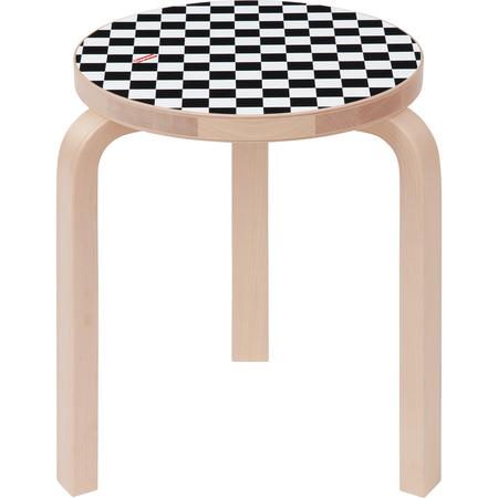 Supreme®/Artek® Aalto Stool 60 (Checkerboard)