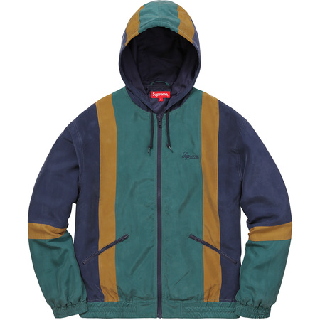 Silk Hooded Jacket (Navy)