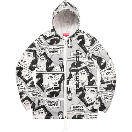 Supreme®/Thrasher® Boyfriend Hooded Zip Up Jacket (White)
