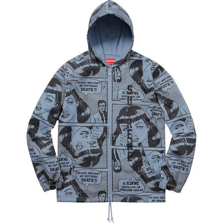 Supreme®/Thrasher® Boyfriend Hooded Zip Up Jacket (Dusty Blue)