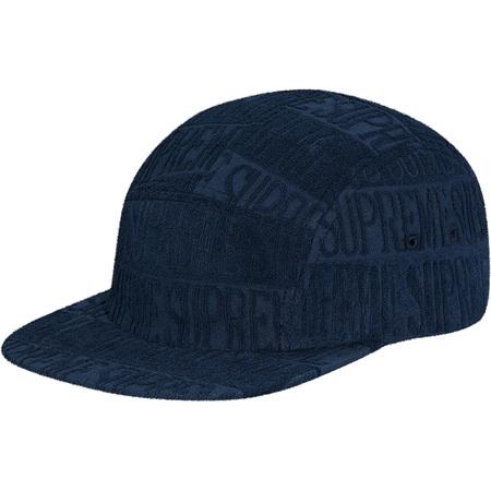 Text Stripe Terry Camp Cap (Navy)