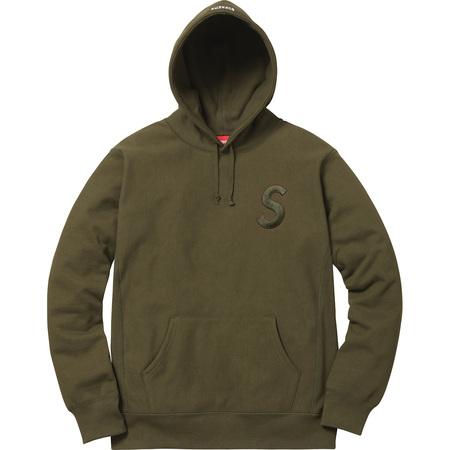 Tonal S Logo Hooded Sweatshirt (Dark Olive)
